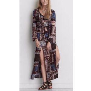 NWOT American Eagle patchwork maxi dress